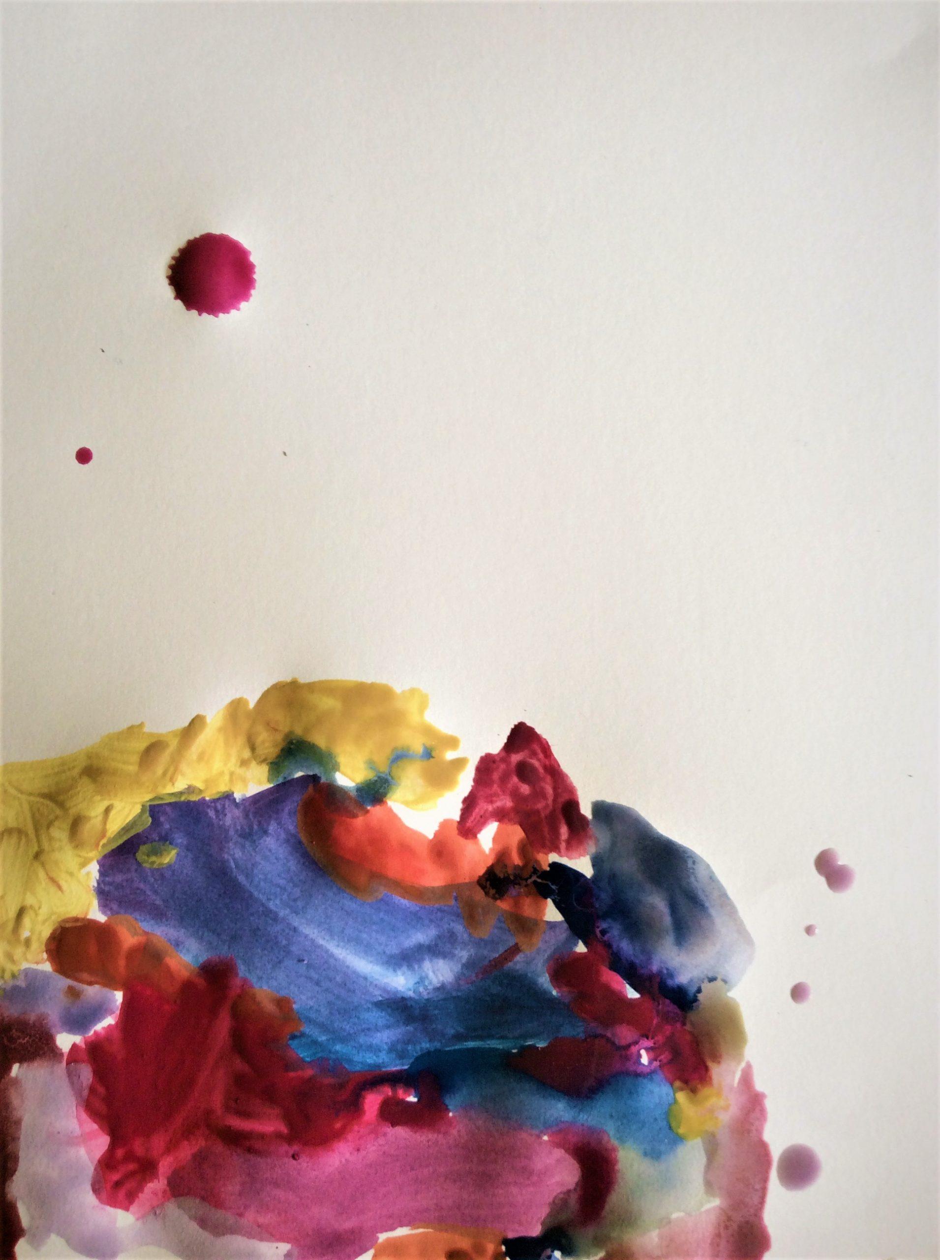 A drop of paint